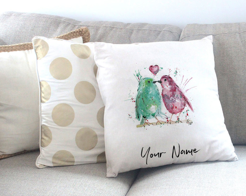 Tweet Heart Personalised Canvas Cushion Cover