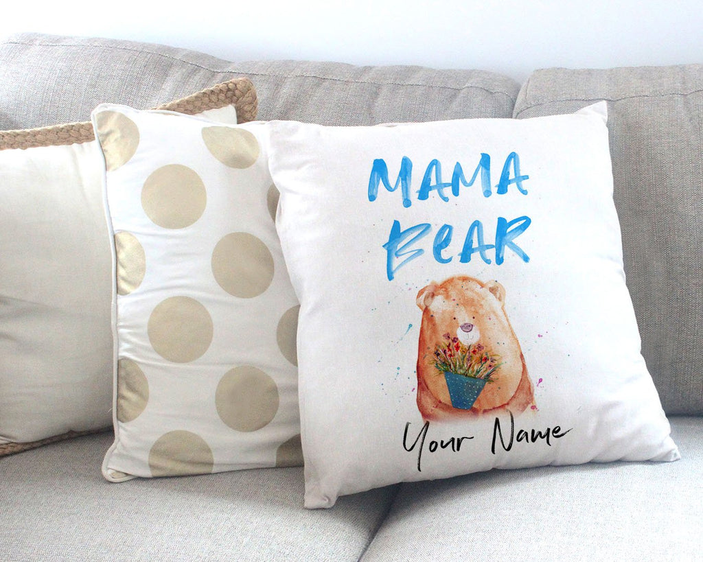 Mama Bear 2020 Personalised Canvas Cushion Cover
