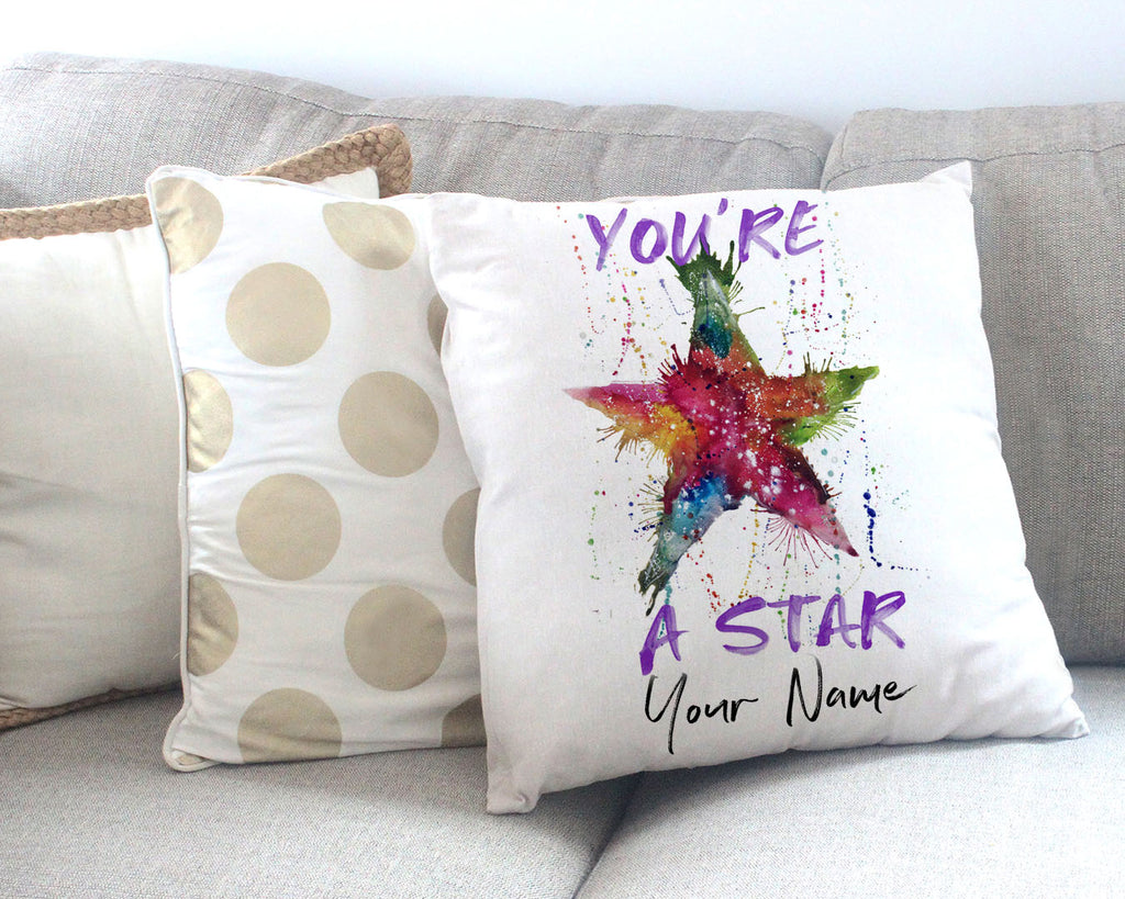 You're A Star! Personalised Canvas Cushion Cover