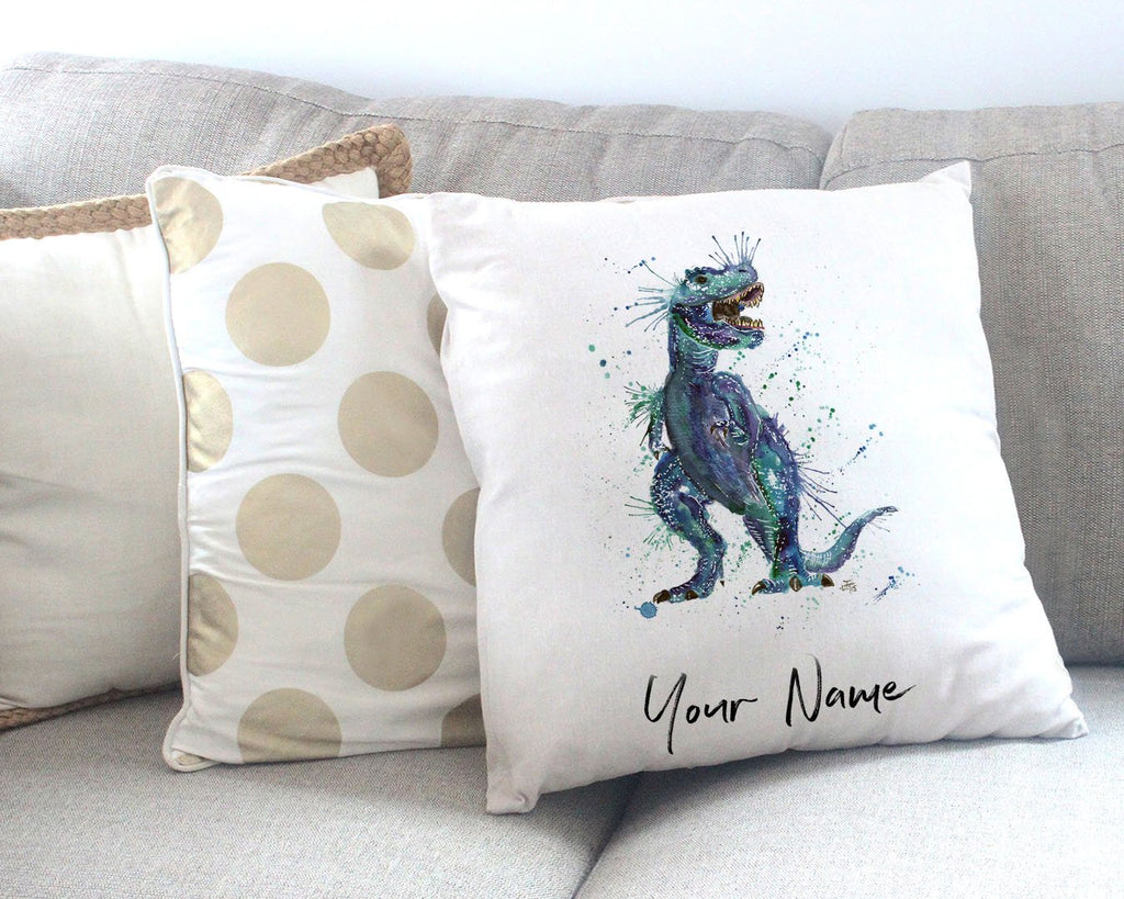 Rex Personalised Canvas Cushion Cover