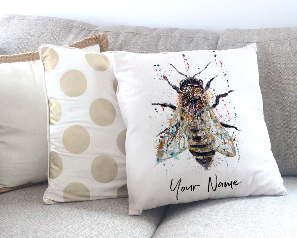 Honey Personalised Canvas Cushion Cover