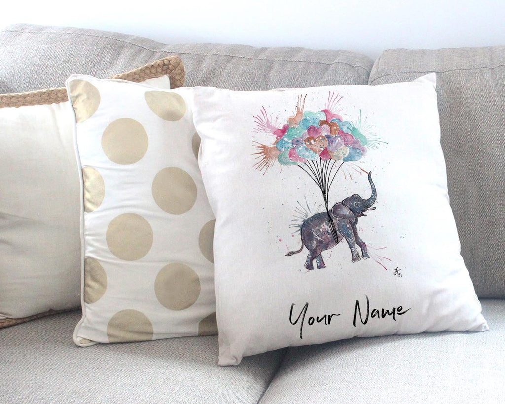 Up! Up! and Away! Personalised Canvas Cushion Cover