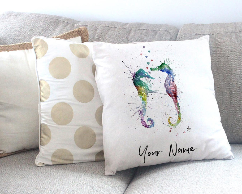 You and Me Personalised Canvas Cushion Cover
