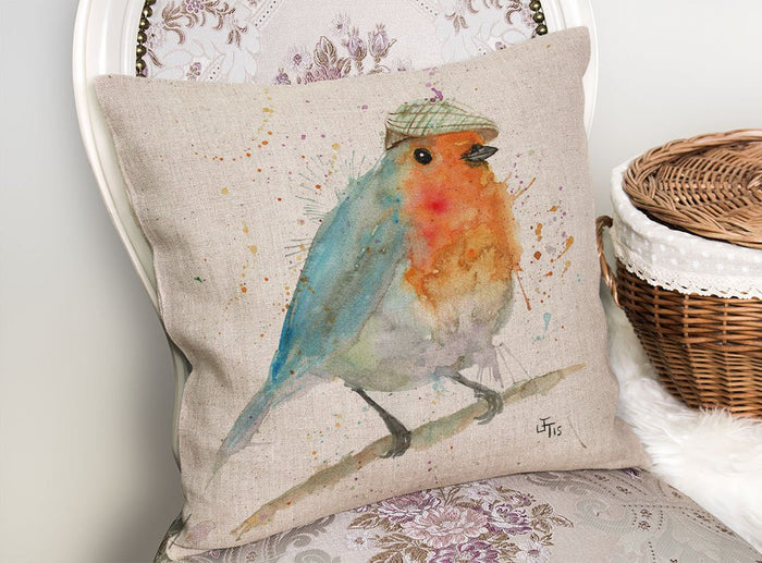 Mr Robin Linen Cushion Cover