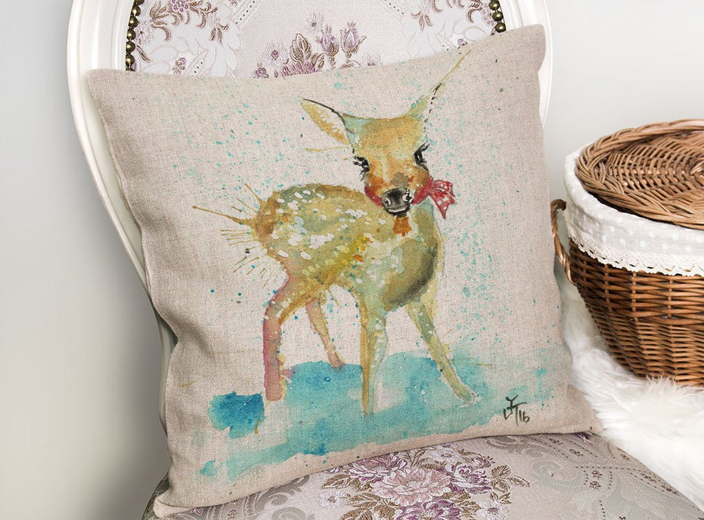 Oh Deer Linen Cushion Cover