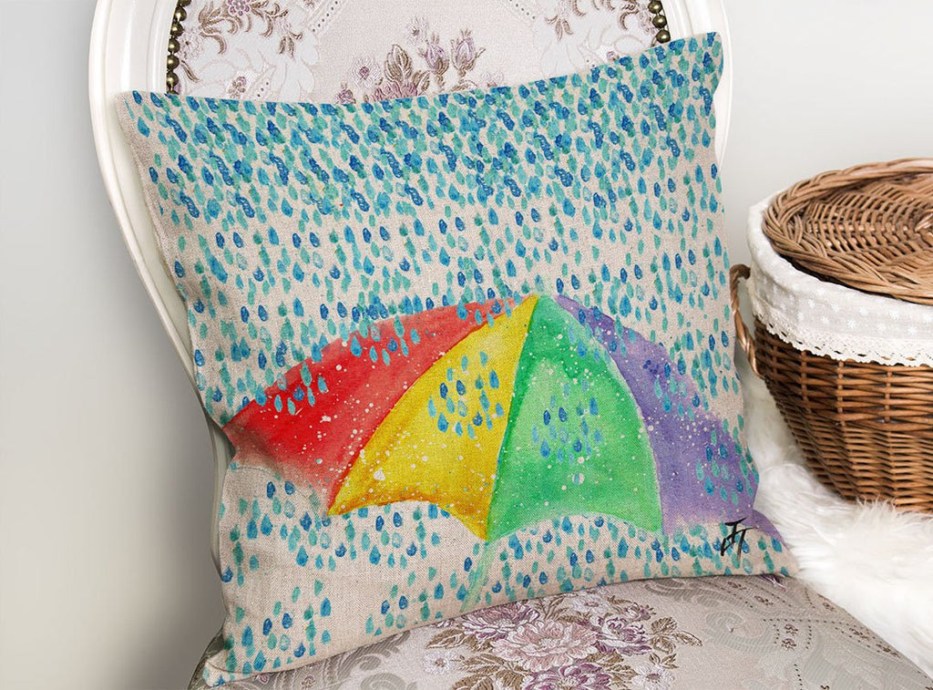 British Summer Linen Cushion Cover