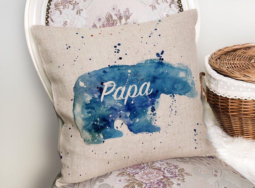 Papa Bear Linen Cushion Cover