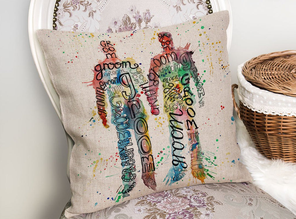 Groom & Groom Linen Cushion Cover