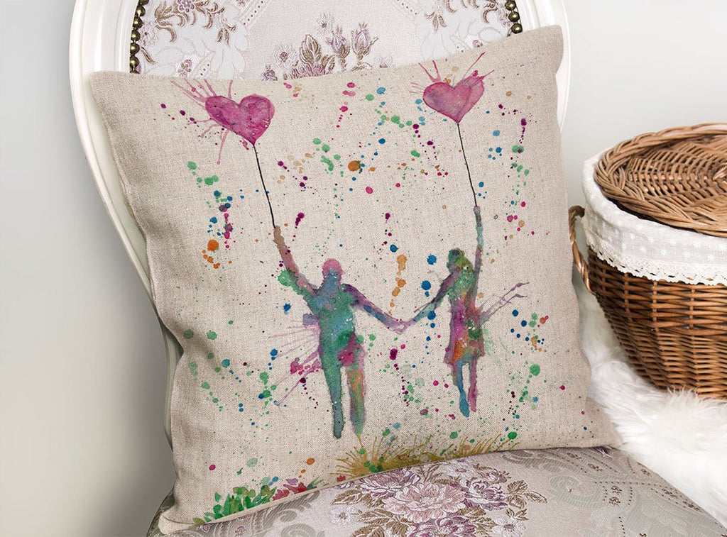 Fly Away With Me Linen Cushion Cover