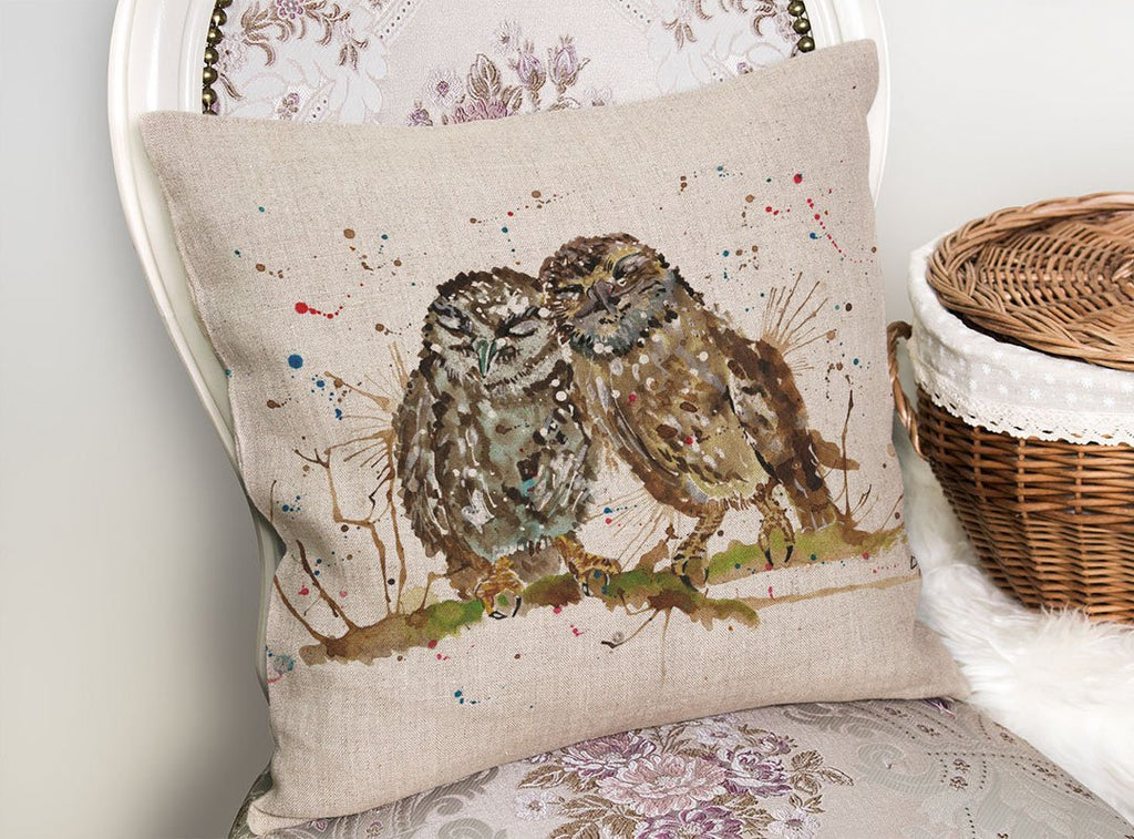 My Favourite Owl Linen Cushion Cover