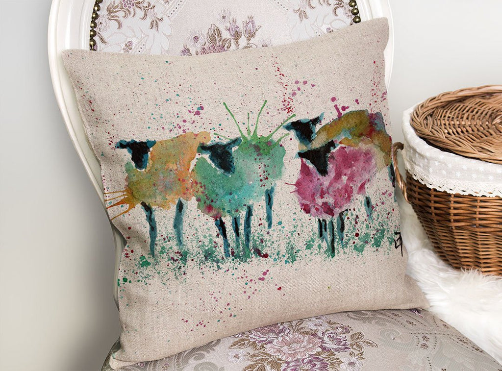 Baaaa Linen Cushion Cover