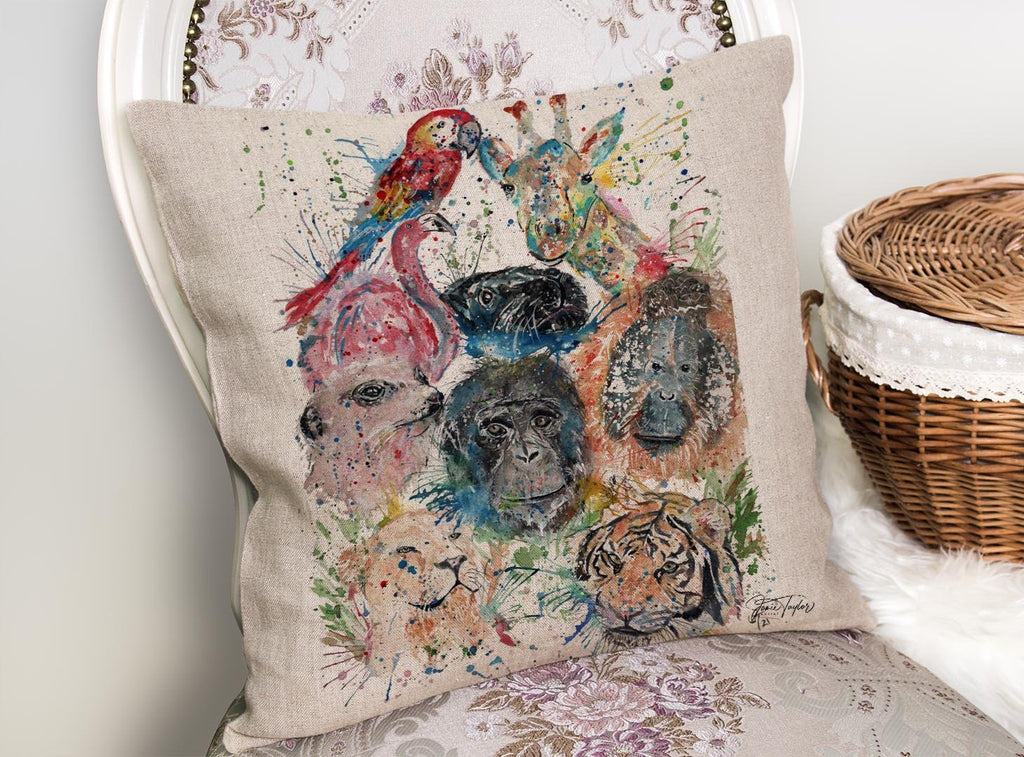 Zoo Linen Cushion Cover