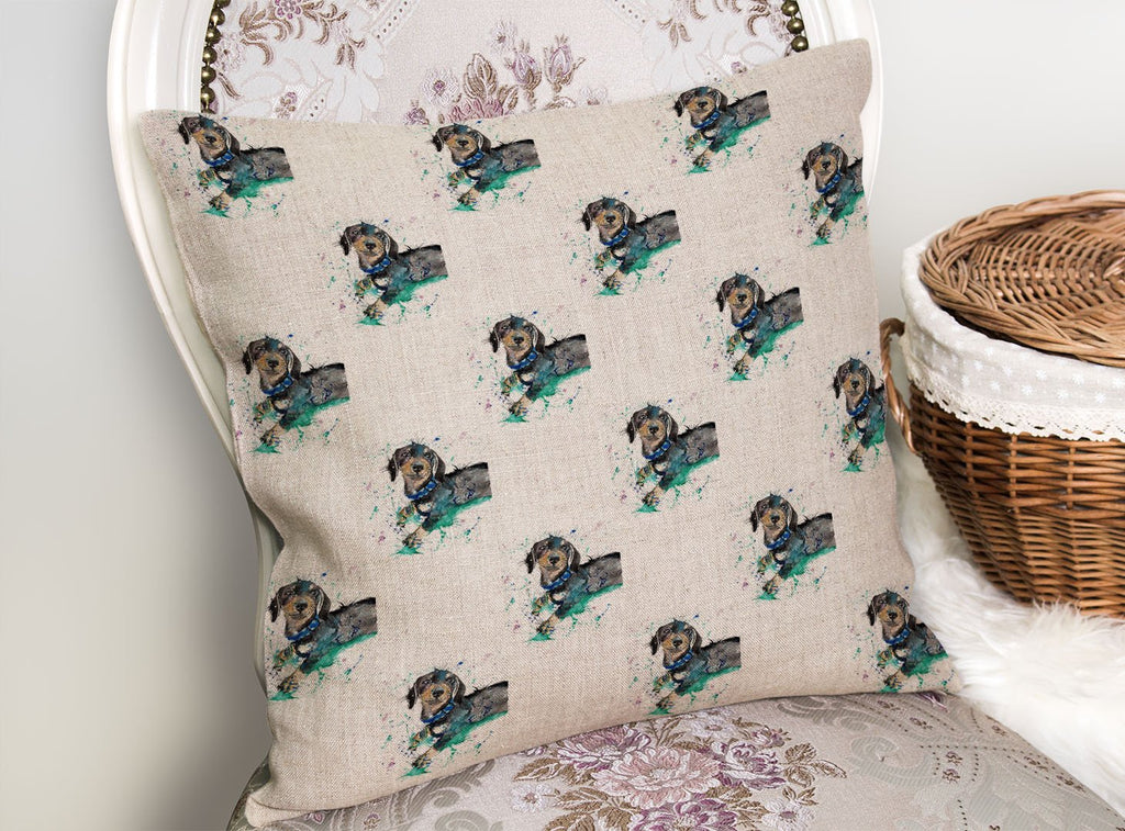 Michael Repeat Linen Cushion Cover