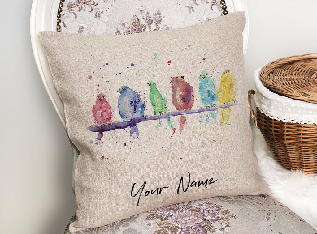 Tweet Personalised Linen Cushion Cover