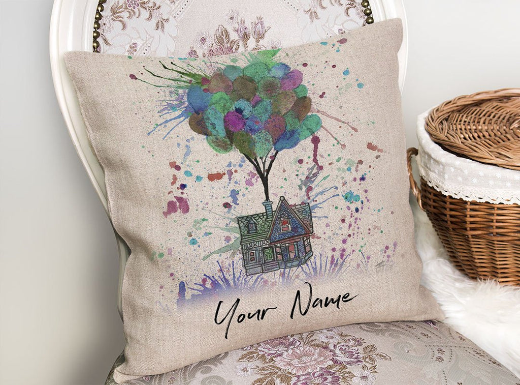 Up Pinks Personalised Linen Cushion Cover