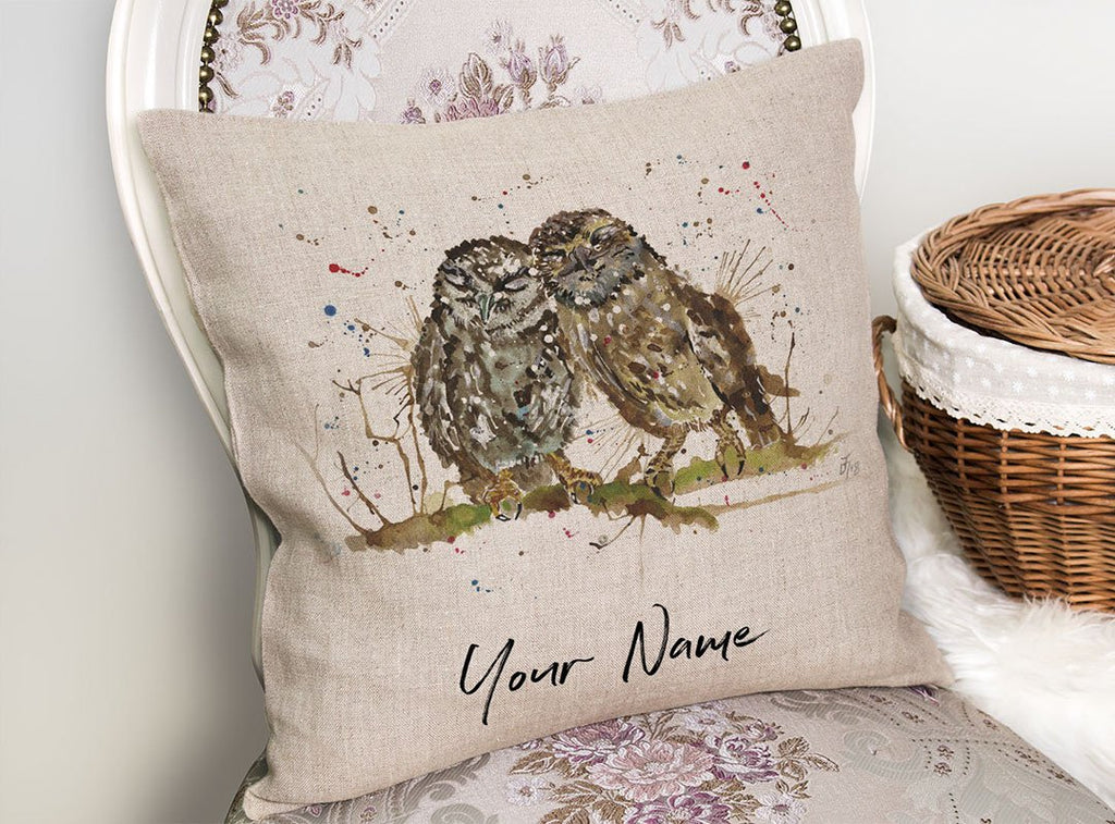 My Favourite Owl Personalised Linen Cushion Cover
