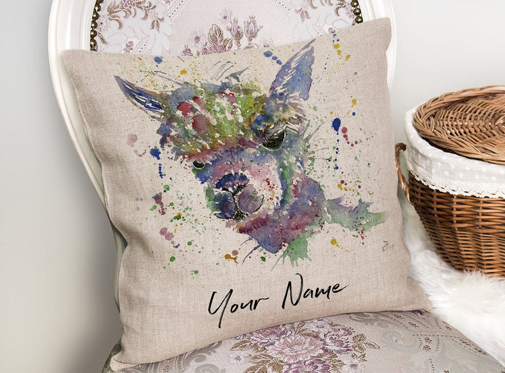 Alpaca Ca! Personalised Linen Cushion Cover