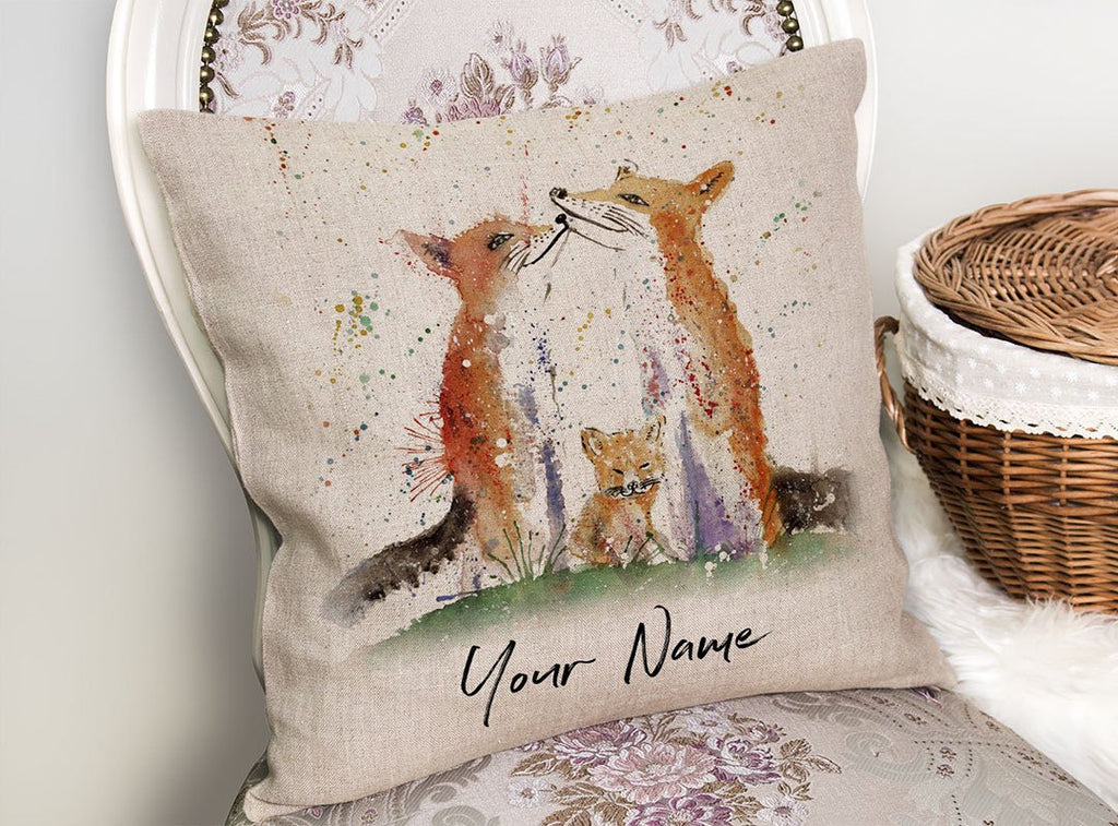 Our Cub Personalised Linen Cushion Cover