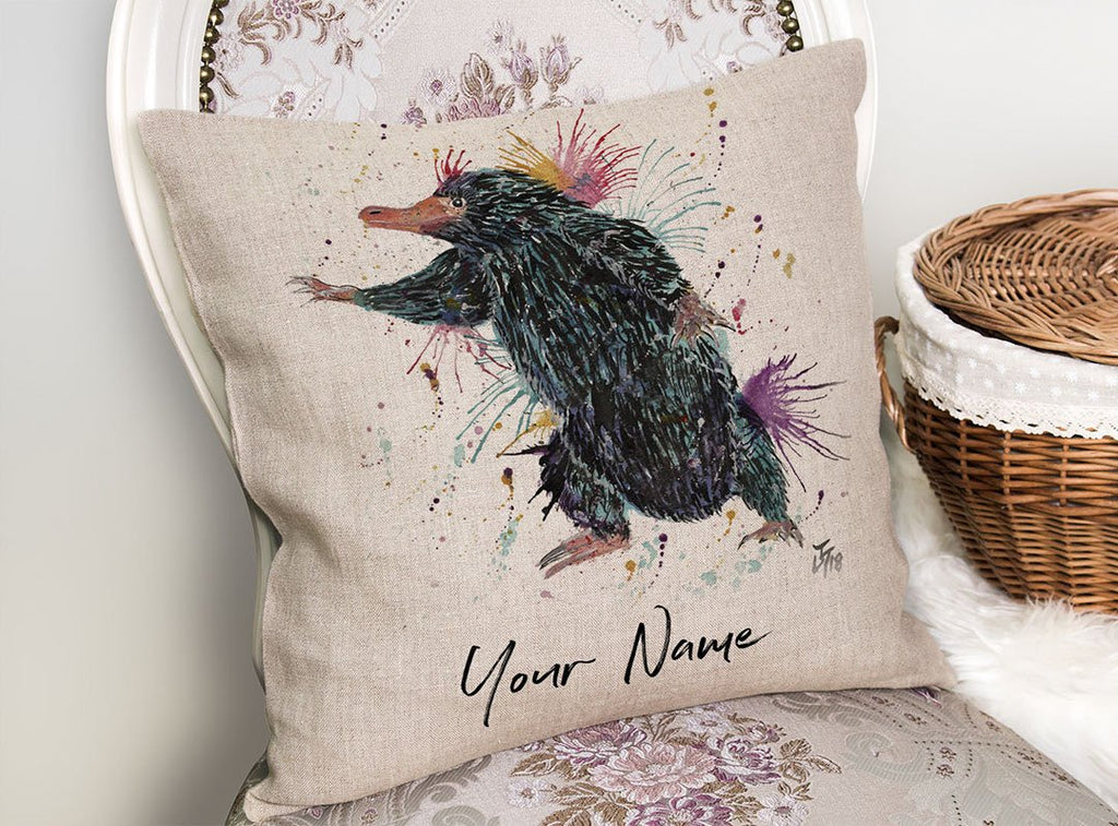 Niffler Personalised Linen Cushion Cover