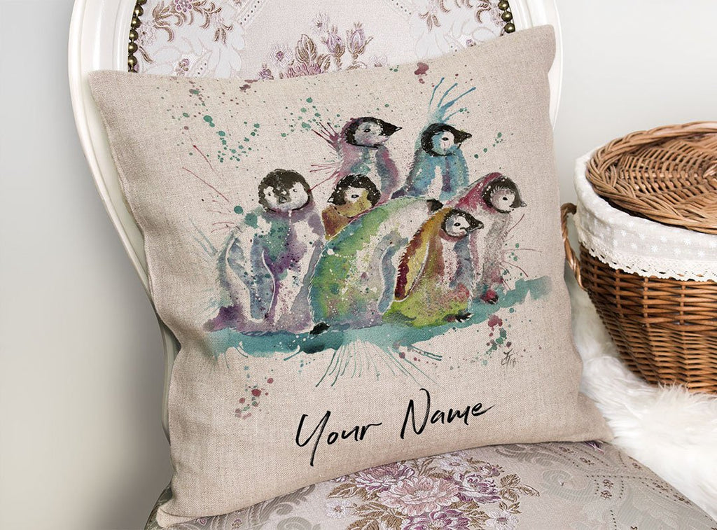 Clan Personalised Linen Cushion Cover