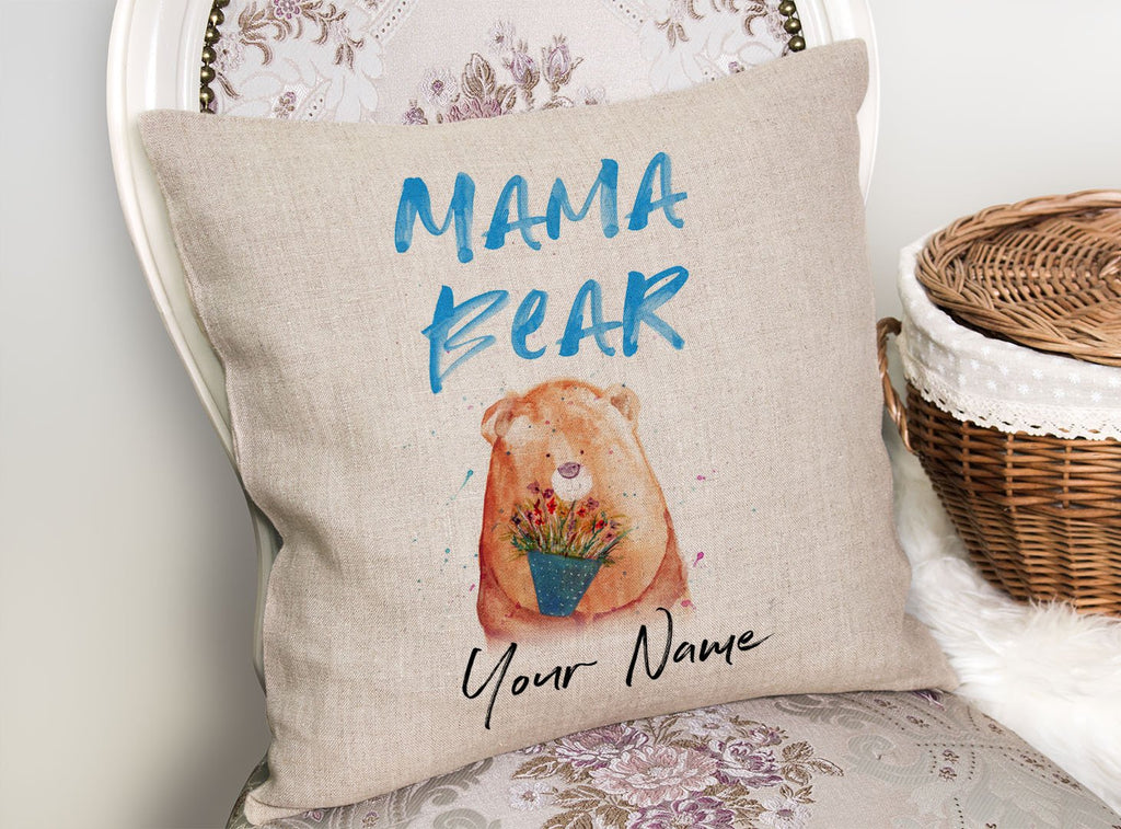 Mama Bear 2020 Personalised Linen Cushion Cover