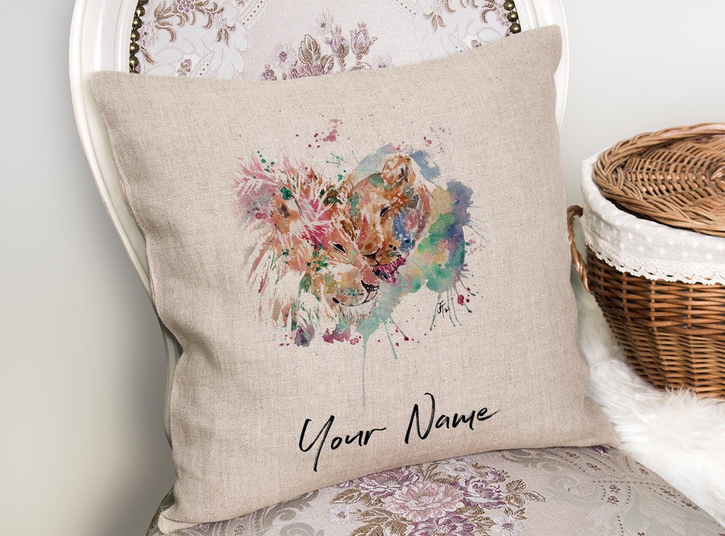 Everlasting Personalised Linen Cushion Cover
