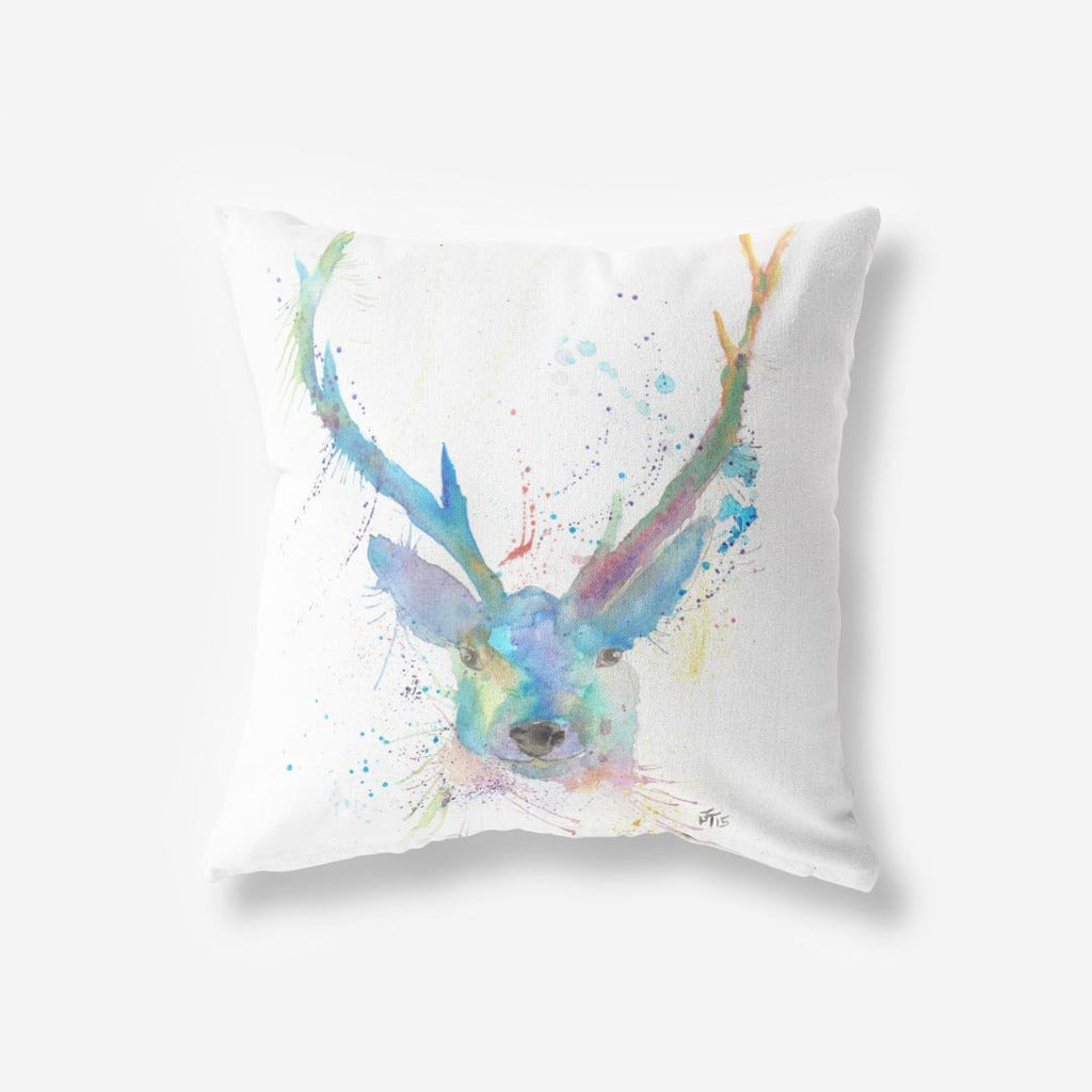 """Bruce"" Stag Faux Suede Cushion"