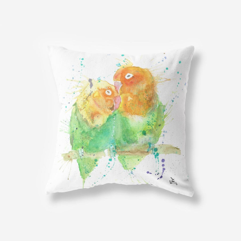Love Birds Faux Suede Cushion