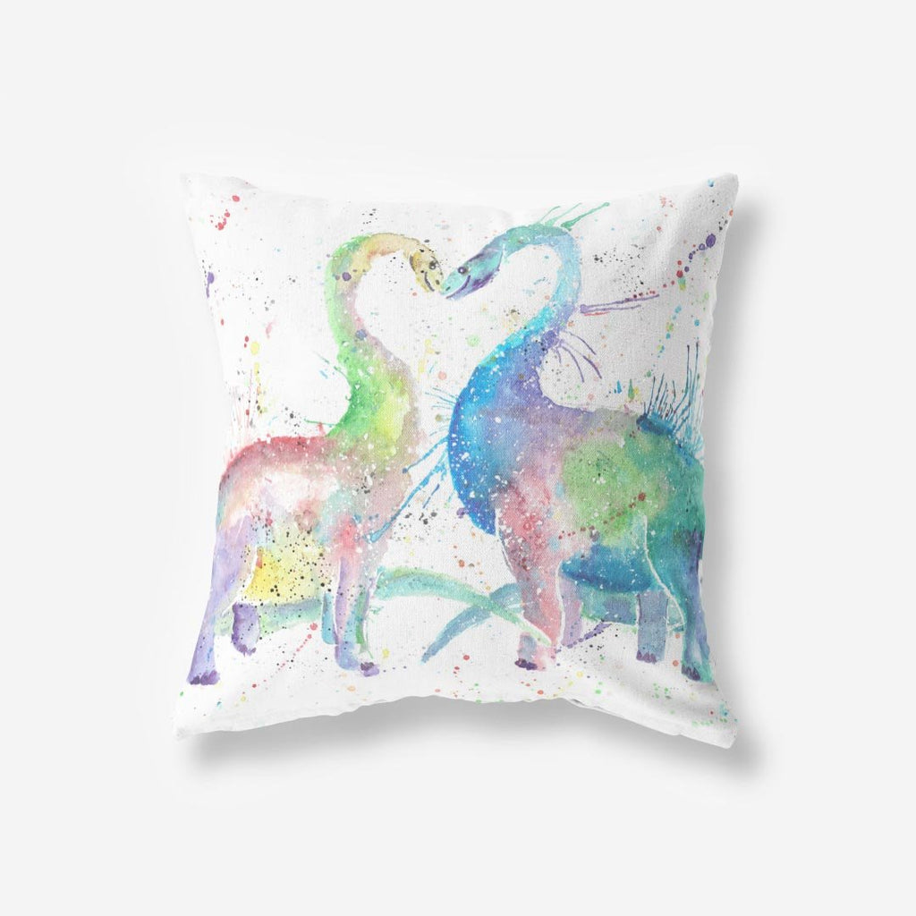 Love Dinosaurs Faux Suede Cushion