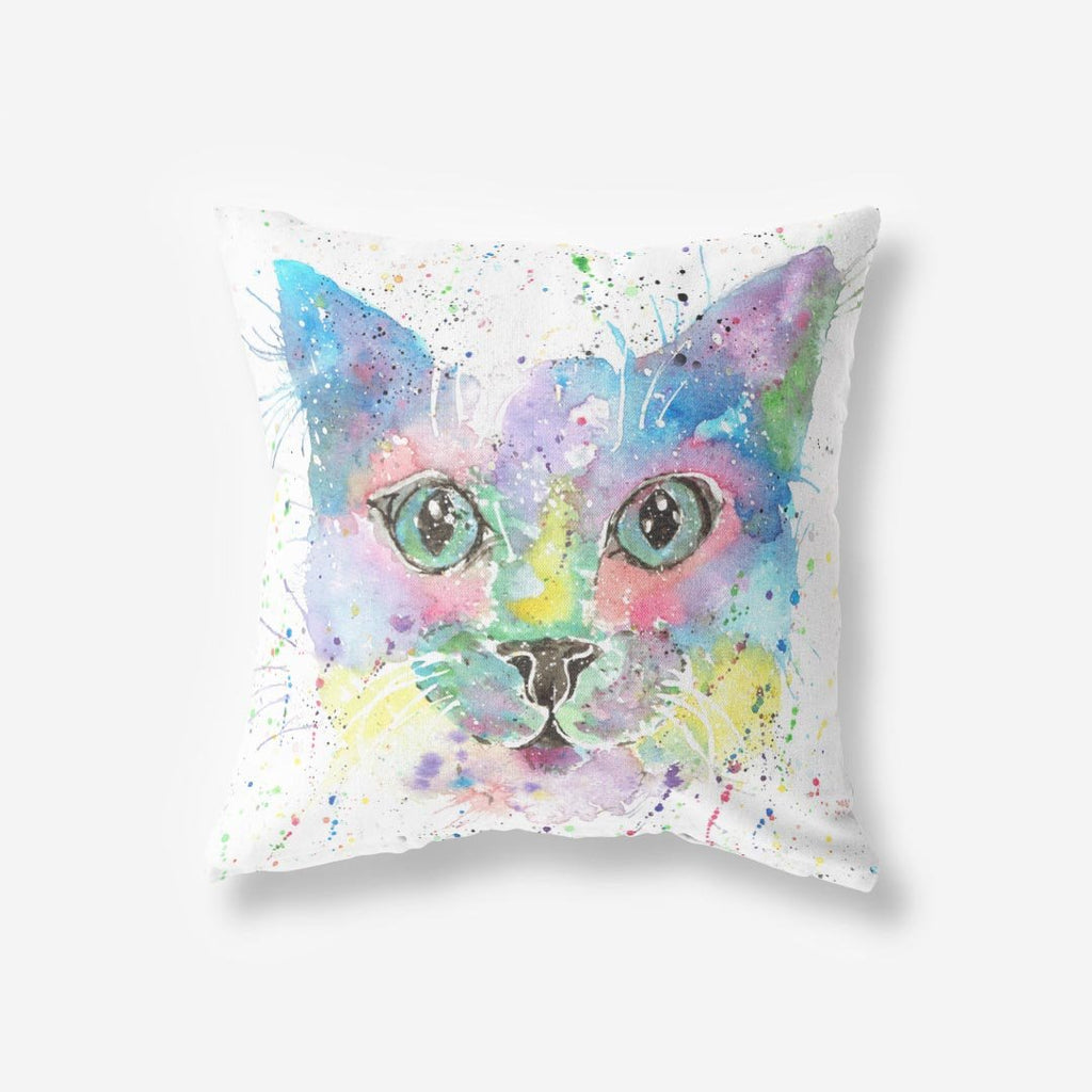 """Meep"" Cat Faux Suede Cushion"