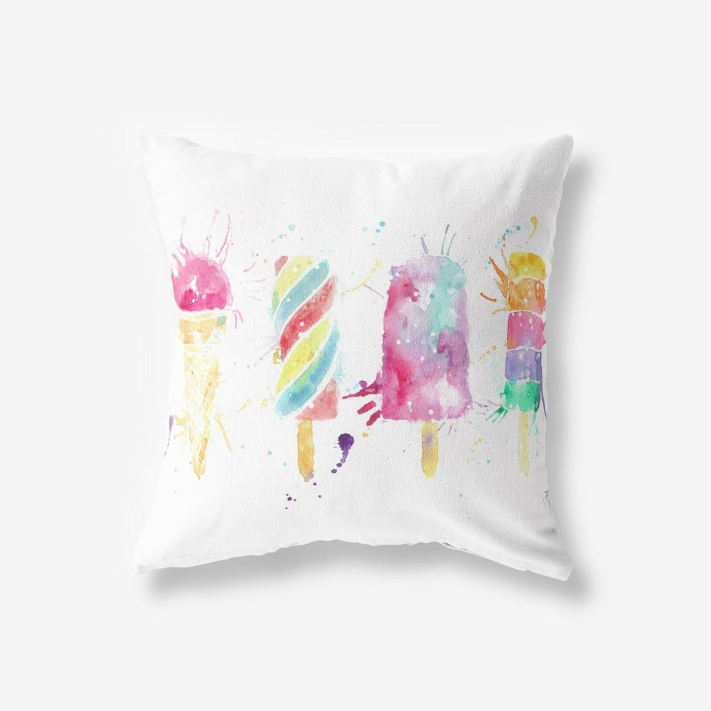 Ice Lollies Faux Suede Cushion