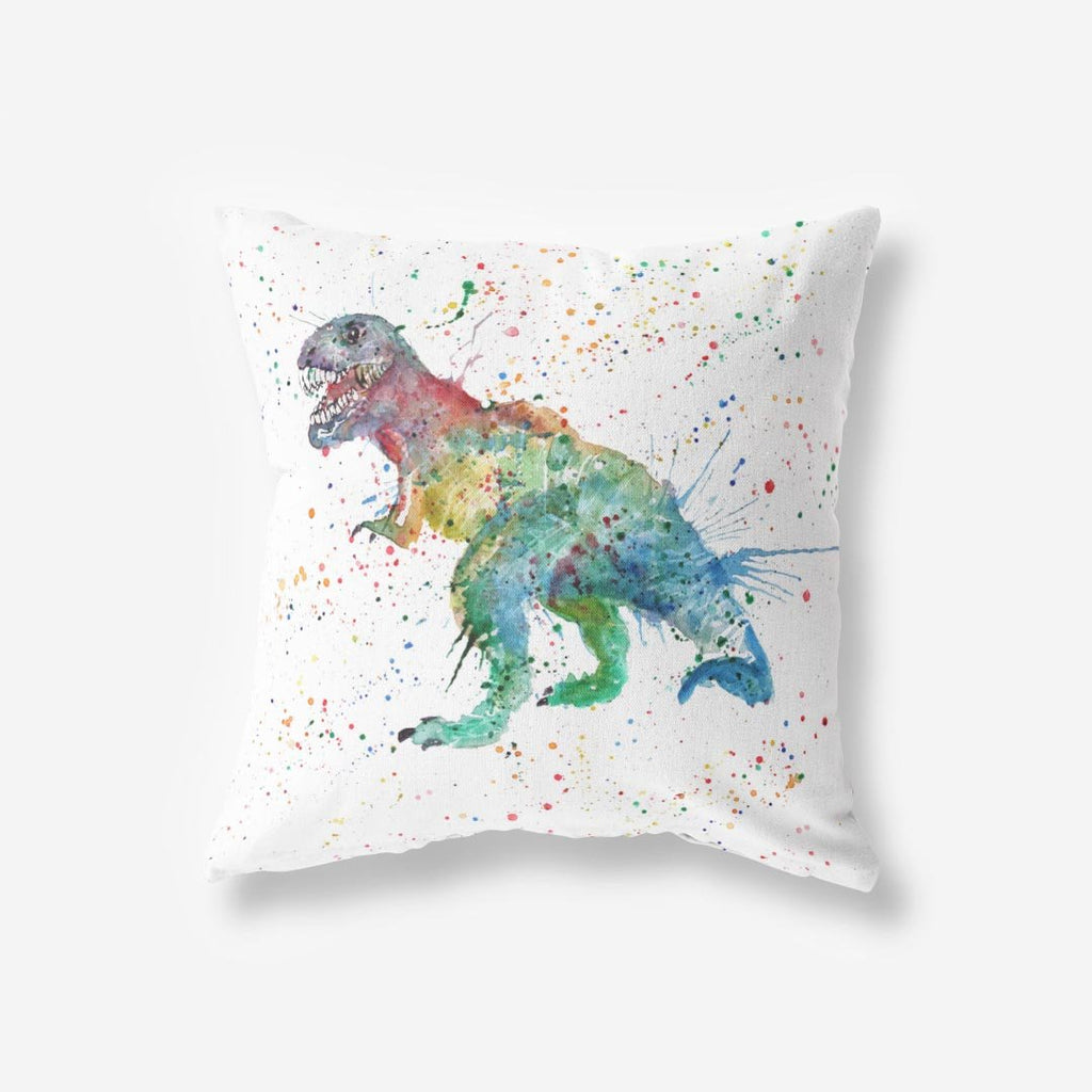 """Gary"" T-Rex Faux Suede Cushion"
