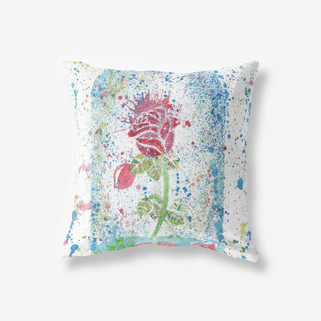 Magic Rose Faux Suede Cushion
