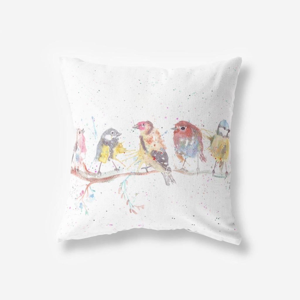 """Tree Friends"" Birds 2 Faux Suede Cushion"