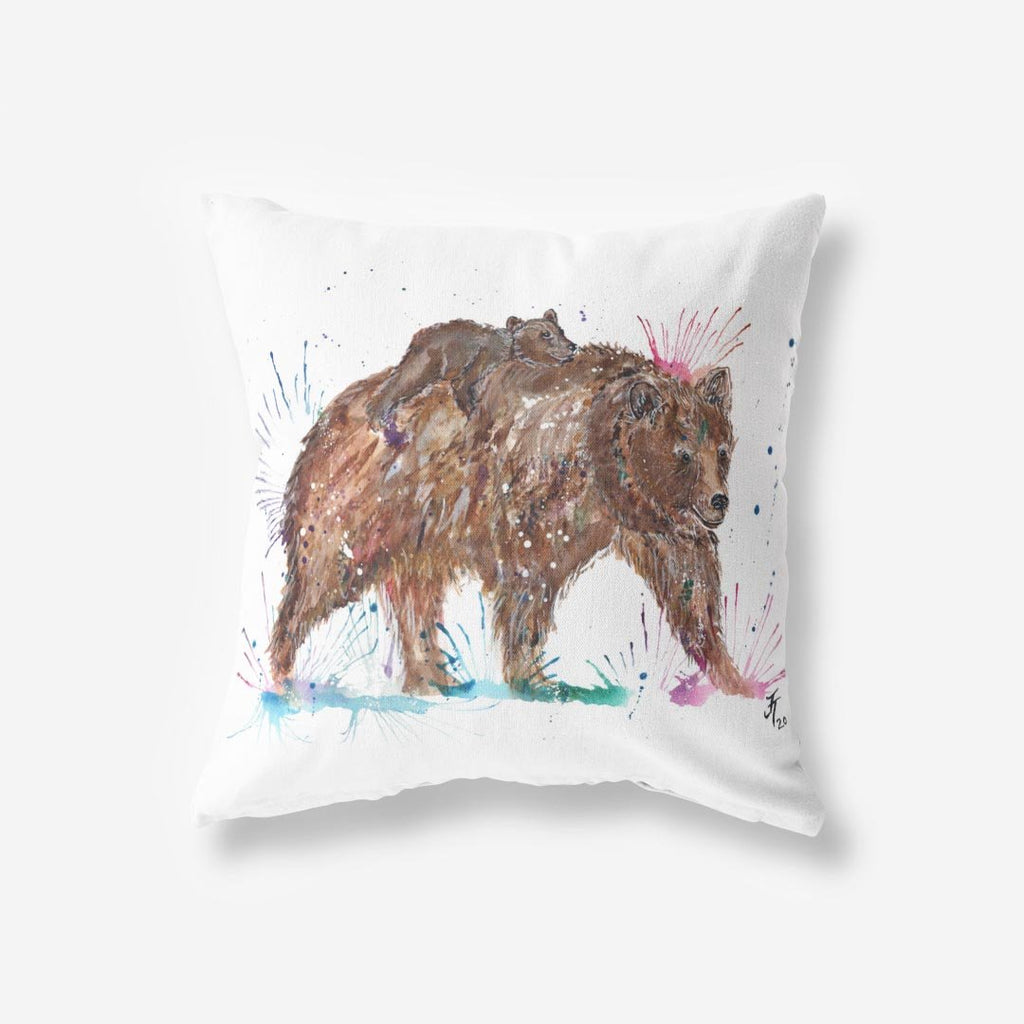 """Precious"" Bears Faux Suede Cushion"
