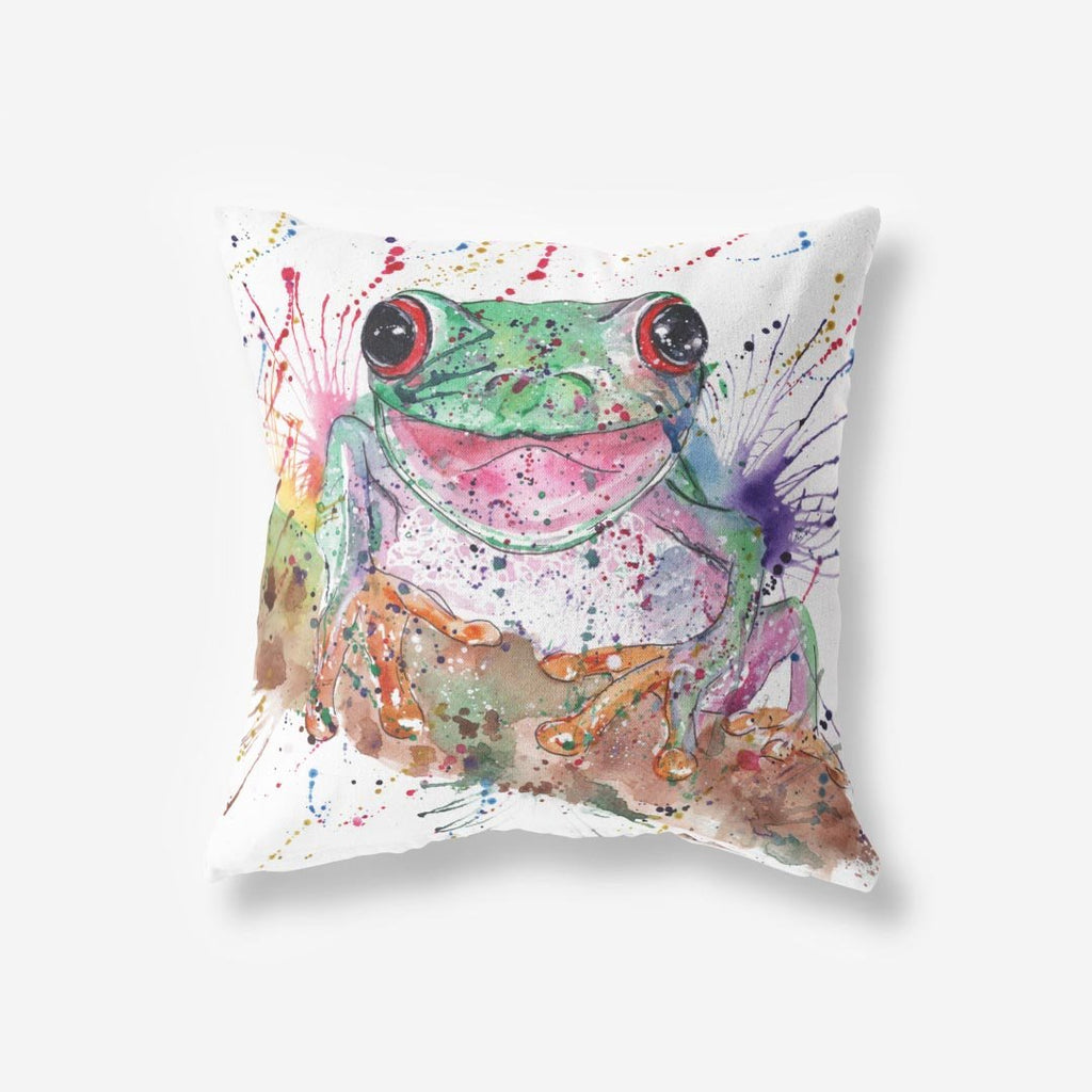 Chris the Frog Faux Suede Cushion