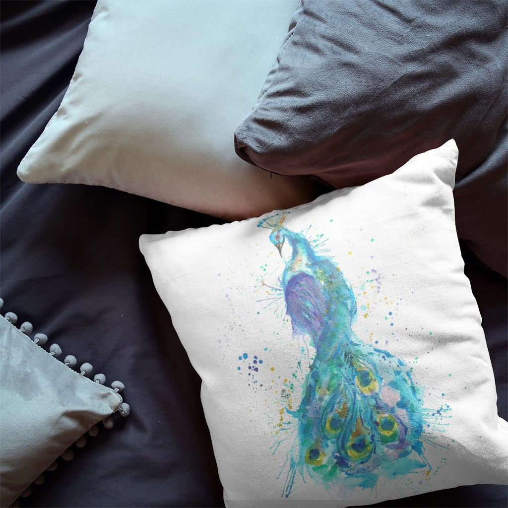 """Prince"" Peacock Faux Suede Cushion"