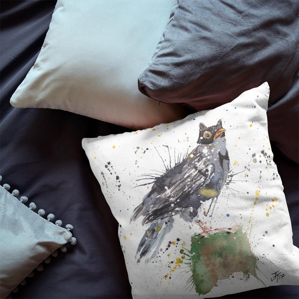 Blackbird Batman Faux Suede Cushion