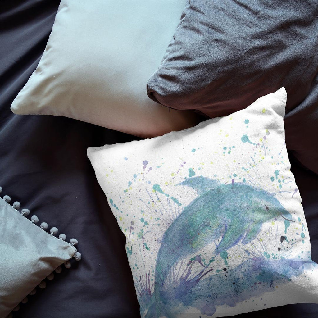 """Bottle"" Dolphin Faux Suede Cushion"