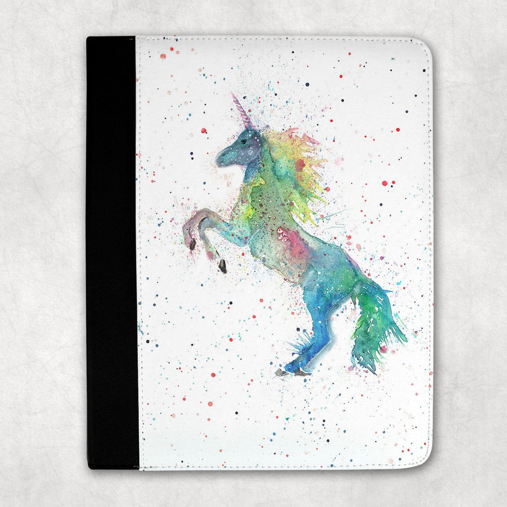 Rainbow Unicorn Folio Tablet Case
