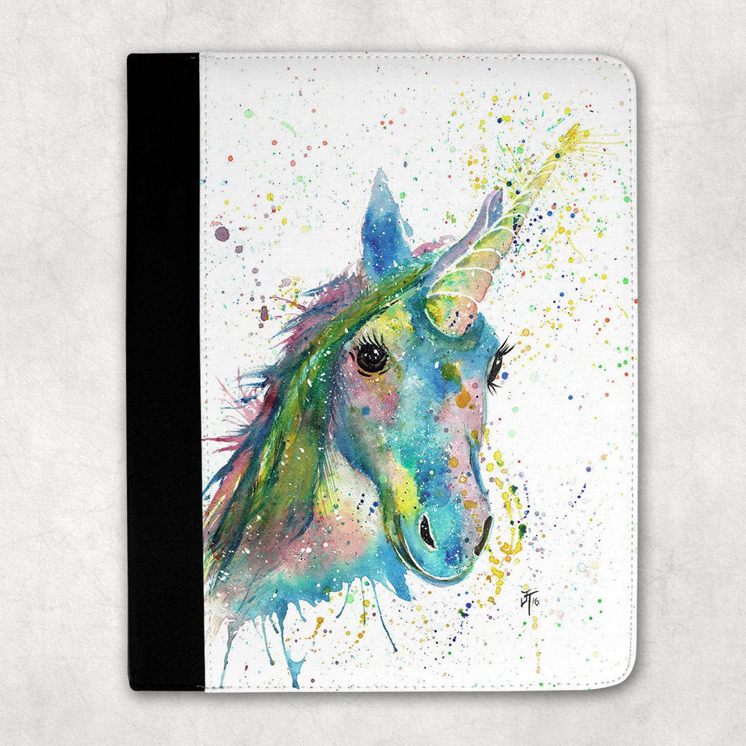 """Patty"" Unicorn Folio Tablet Case"