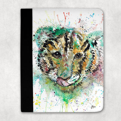 """Franklin"" Tiger Cub Face Folio Tablet Case"