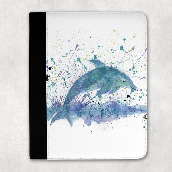 """Bottle"" Dolphin Folio Tablet Case"