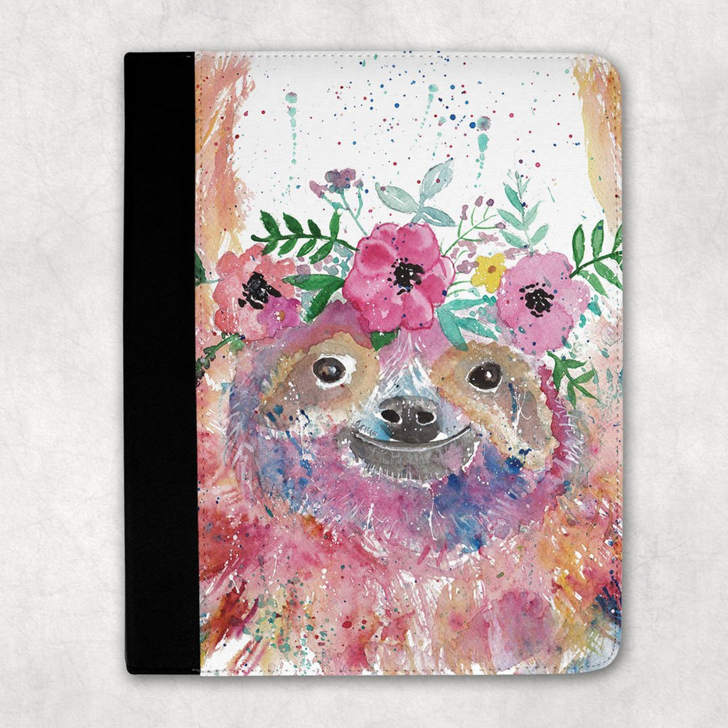Hey Mrs Sloth Folio Tablet Case