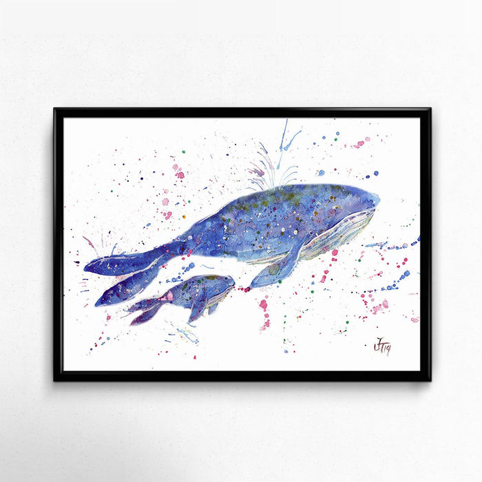 Berta & Baby Whale Signed Fine Art Print
