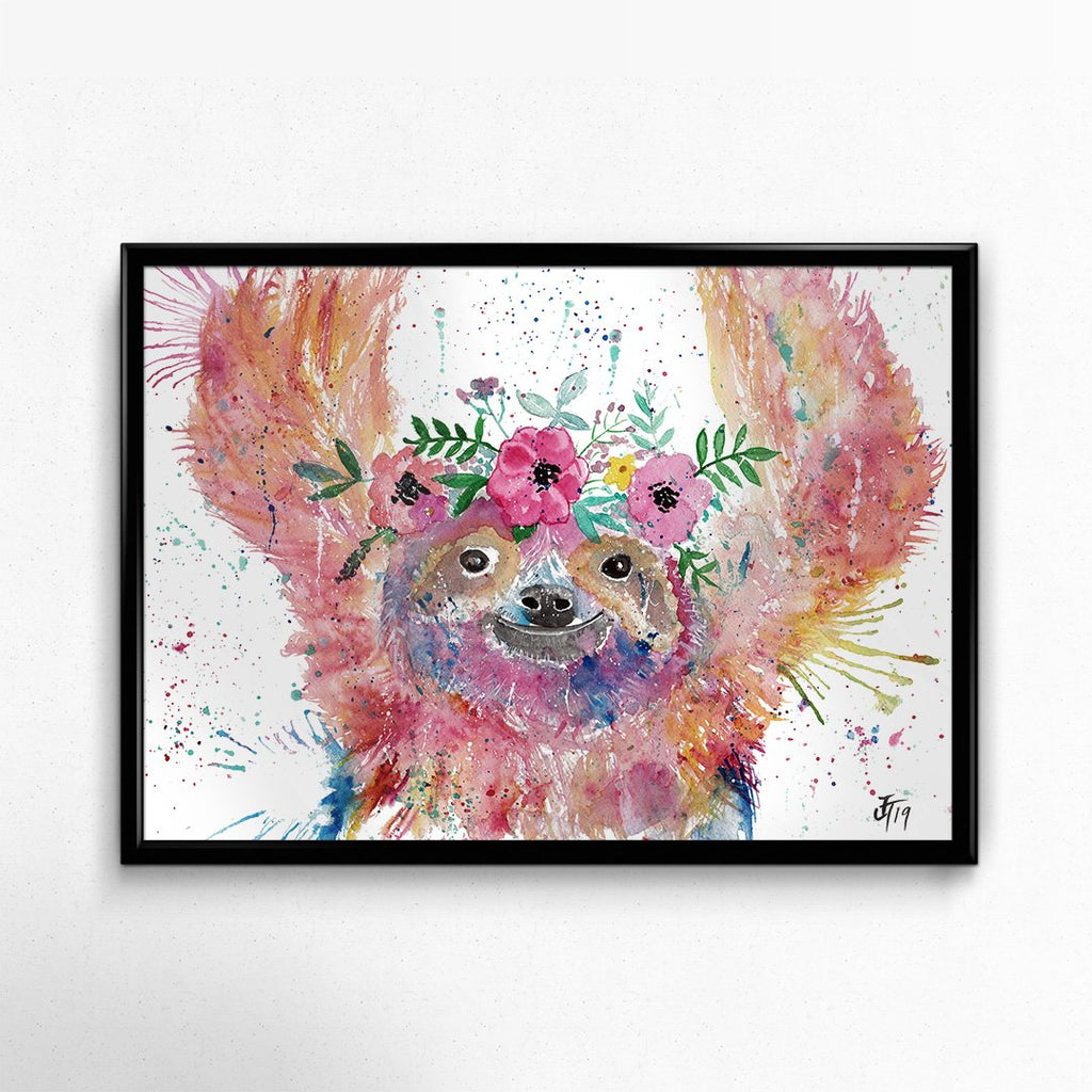 Hey Mrs Sloth Signed Fine Art Print