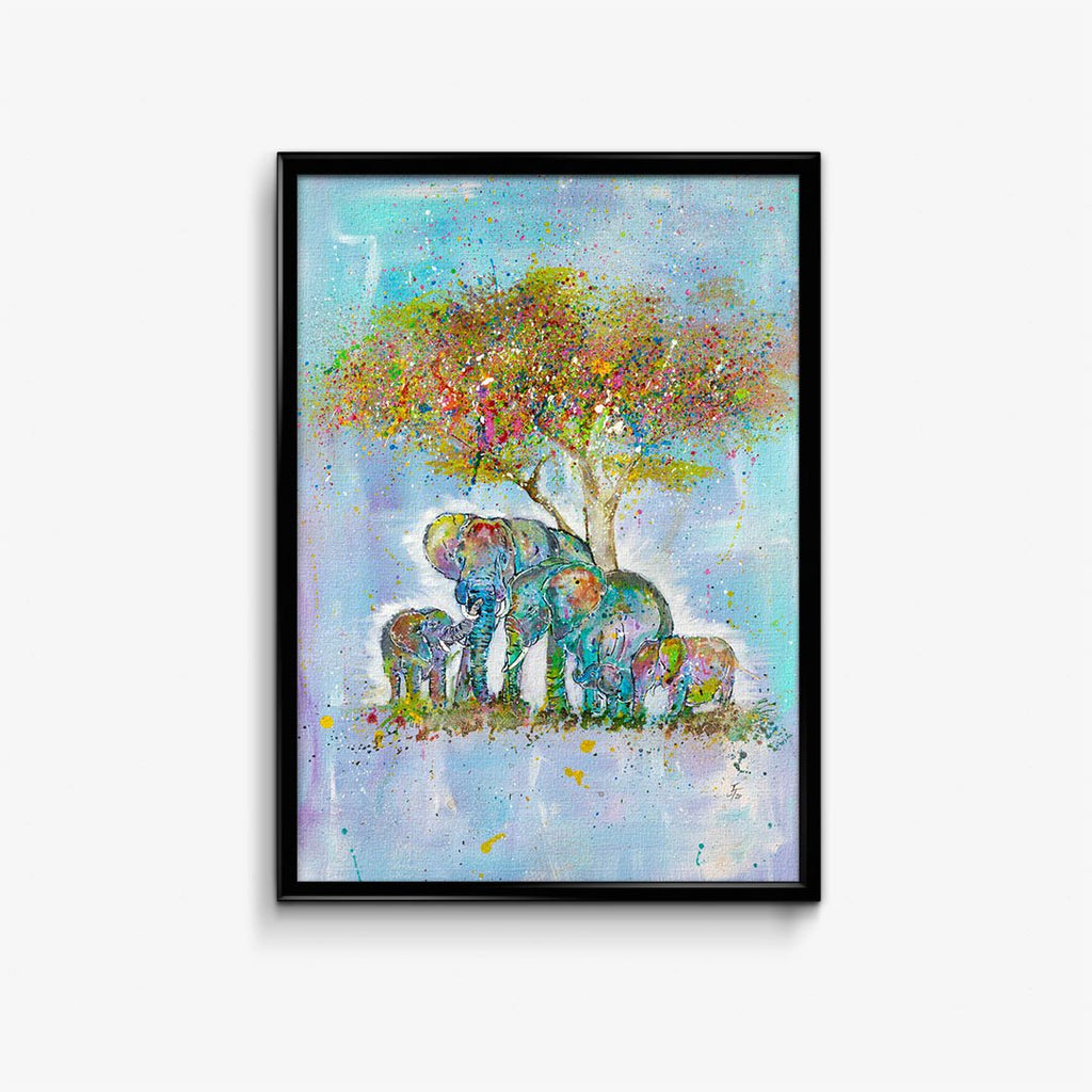 """Blessed"" Elephants Signed Fine Art Print"