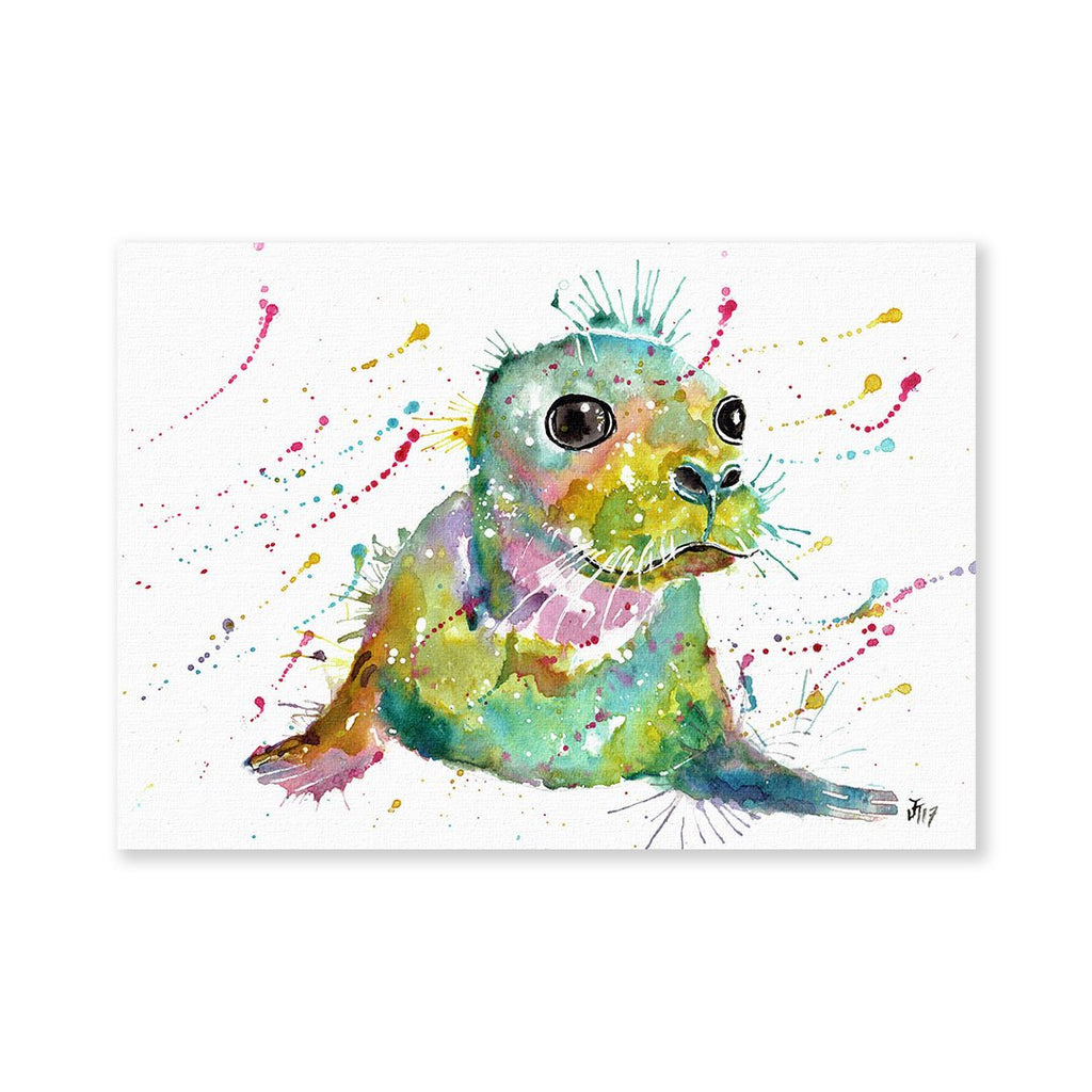 """Toby"" Seal Signed Fine Art Print"