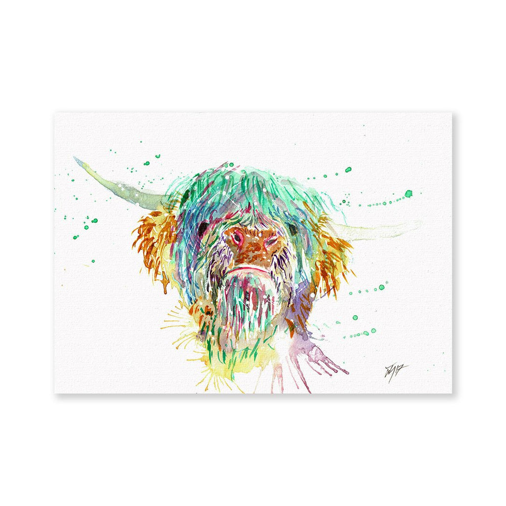 Highland Cow Signed Fine Art Print