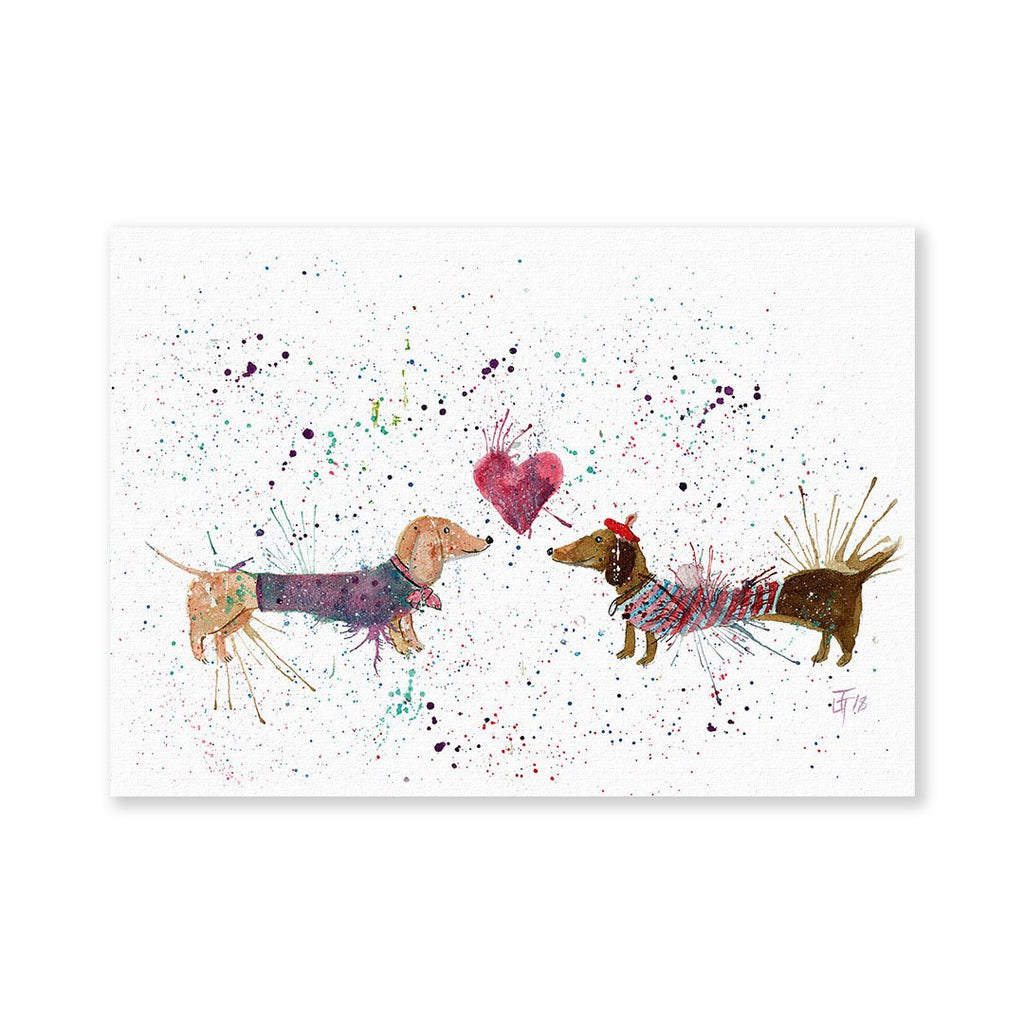 Sausage Dogs in Love Signed Fine Art Print